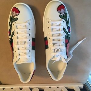 c61120f5150 🆕AUTHENTIC GUCCI ACE EMBROIDERED 💯 LEATHER 👟👟